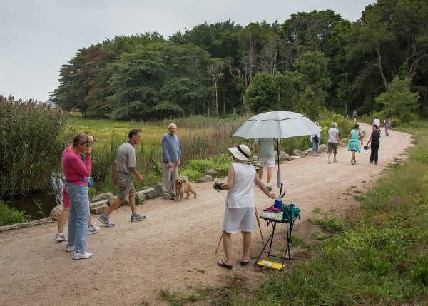 2014 En Plein Air event on Hammonasset section of Shoreline Greenway Trail. credit: The Source
