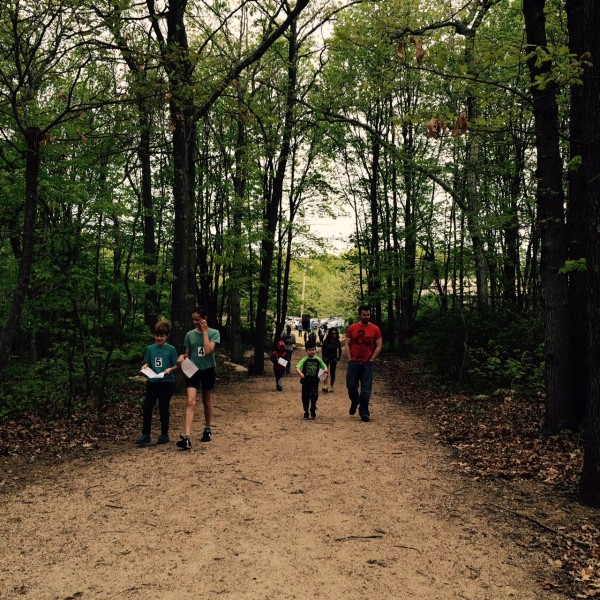 Kids Challenge Event begins with a scavenger hunt along the DC Moore trail segment.