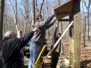 Branford Boy Scouts building Birch Road Trailhead sign