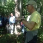 Bill Horne from Branford Land Trust explaining the purchase and trail development of the Weil property