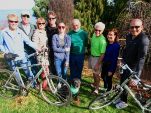 Preparing to bike for Shoreline Greenway Trail at the Rock to Rock Earth Day Ride in New Haven on April 25. 2016.