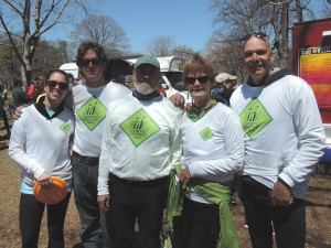 Riding for Shoreline Greenway Trail at the Rock to Rock Earth Day ride on April 25, 2016 Chelsea Anderson & her dad, Rick Anderson, Bruce Simonds, Carol Grave, Peter Hawes.
